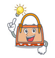 have an idea hand bag mascot cartoon vector image