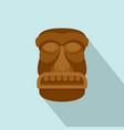 hawaii idol icon flat style vector image vector image