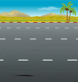 highway background vector image vector image