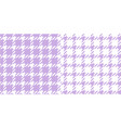 hounds tooth seamless pattern in purple and white vector image