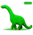 Icon of plasticine diplodocus vector image vector image