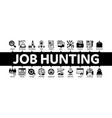 job hunting minimal infographic banner vector image vector image