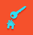 key with keychain as an house sign vector image vector image