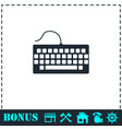 keyboard icon flat vector image