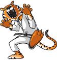 kung fu tiger vector image