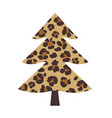 leopard christmas tree vector image vector image