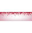 love valentine s banner with pink hearts vector image vector image