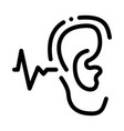 making sounds by ear icon outline vector image vector image