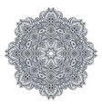 mandalapattern of henna floral elements vector image vector image