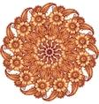 Mehndi henna tattoo style mandala vector image