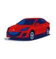 modern japanese car in blue and red colors flat vector image