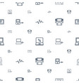 monitor icons pattern seamless white background vector image vector image