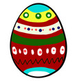 multicolor mexican egg on white background vector image vector image