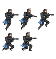 navy seal jumping sprite vector image vector image