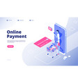 online payment internet payments shopping money vector image vector image