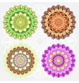 Oriental round ornament set vector image