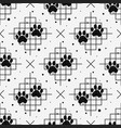 paw print seamless with line texture traces of vector image