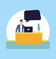 people talking bubble vector image vector image