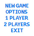 pixel game menu options text detailed isolated vector image vector image