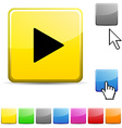 Play glossy button vector image