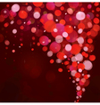 red lights background vector image