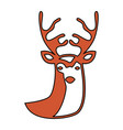 reindeer silhouette isolated icon vector image vector image