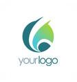 round globe loop logo vector image
