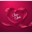 Save the Date Pink Ribbon Heart vector image