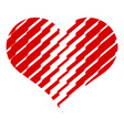 scratched heart icon simple style vector image vector image