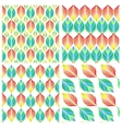 Seamless patterns with colorful leaves vector image
