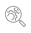 search engine optimization line icon on white vector image vector image