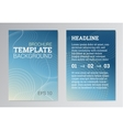 set poster brochure design templates in blue vector image