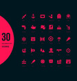 set simple icons columbus day vector image