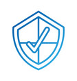 shield with checkmark protection secure symbol for vector image