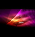 shiny straight lines on dark background techno vector image