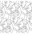 simple fashion line seamless pattern vector image vector image