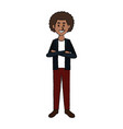 smiling man in casual clothes standing character vector image