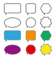 speech bubble icons outline symbol for web design vector image vector image
