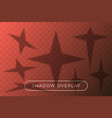 star set shadow overlay many star in different vector image