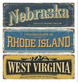 state us nebraska virginia rhode island vector image vector image