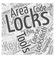 Tools and Equipment for Locksmiths Word Cloud vector image vector image