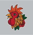 traditional chicken flash tattoos vector image vector image