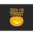 Trick or treat Halloween poster with hand vector image vector image