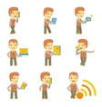 urban character set in different poses simple flat vector image vector image