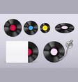 vinyl realistic transparent vector image vector image