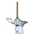waiter mop mascot cartoon style vector image vector image