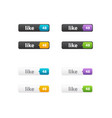web like buttons for website or app vector image vector image