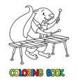 xerus xylophonist abc coloring book alphabet x vector image vector image