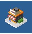 Flat isometric store logo isolated icon vector image
