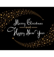 Merry Christmas Star card template vector image
